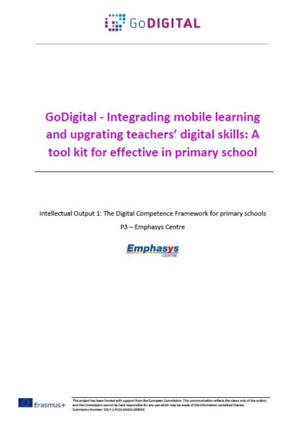 GoDigital - Integrading mobile learning and upgrating teachers' digital skills: A tool kit for effective in primary school