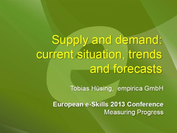 Supply and demand: current situation, trends and forecasts